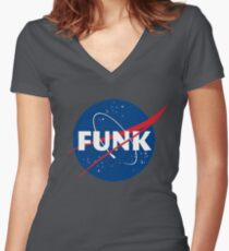 Space Funk Women's Fitted V-Neck T-Shirt