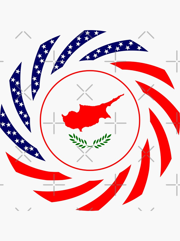 Cypriot American Multinational Patriot Flag Series by carbonfibreme