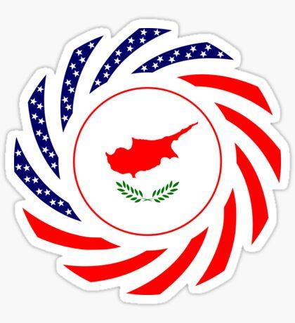 Cypriot American Multinational Patriot Flag Series Sticker