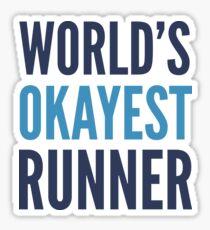 Pegatina El mejor corredor del mundo