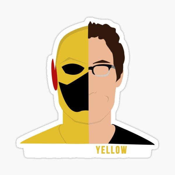 El hombre en el traje amarillo 1/2 Pegatina