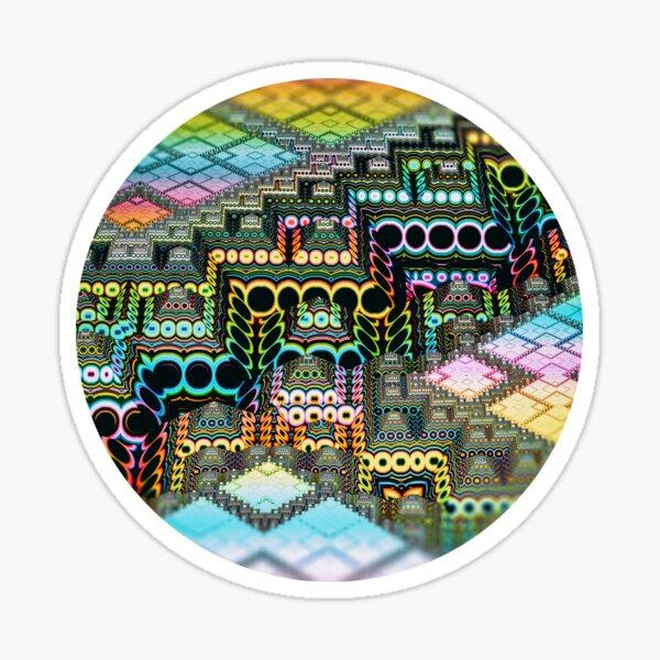 infrastructure IV. 3d Abstract Art Sticker