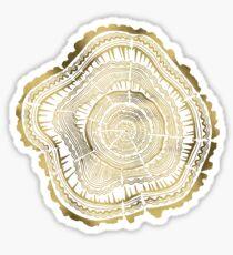 Gold Tree Rings Sticker