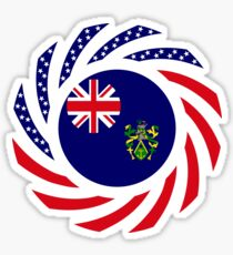 Pitcairn Islander American Multinational Patriot Flag Series Sticker