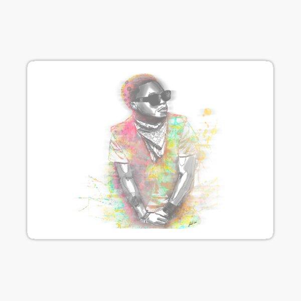 Lupe Fiasco Grey Splash Sticker