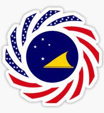 Tokelauan American Multinational Patriot Flag Series Sticker