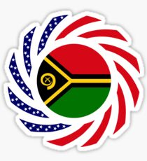 Ni-Vanuatu American Multinational Patriot Flag Series Sticker