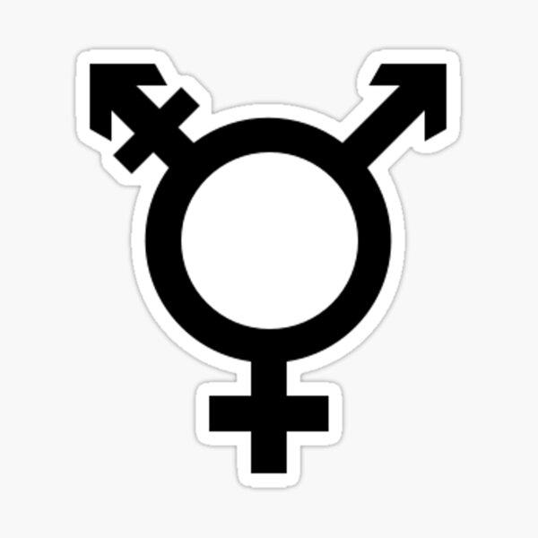Símbolo transgénero Pegatina
