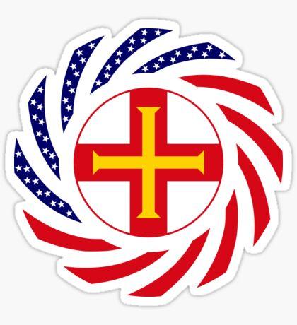 Guernsey American Multinational Patriot Flag Series Sticker