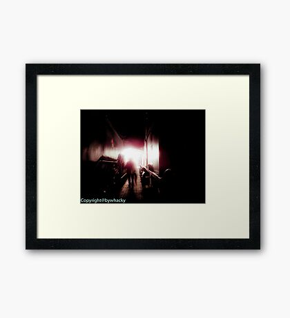 Train shed Ghost Framed Print