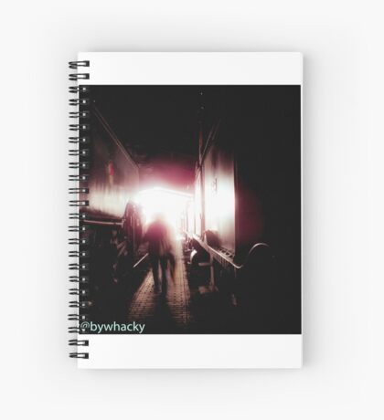 Train shed Ghost Spiral Notebook
