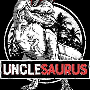Unclesaurus T shirt T rex Tío Saurus Dinosaur Men Daddy de LiqueGifts