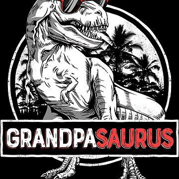 Grandpasaurus T shirt T rex Grandpa Saurus Dinosaur Granddad de LiqueGifts