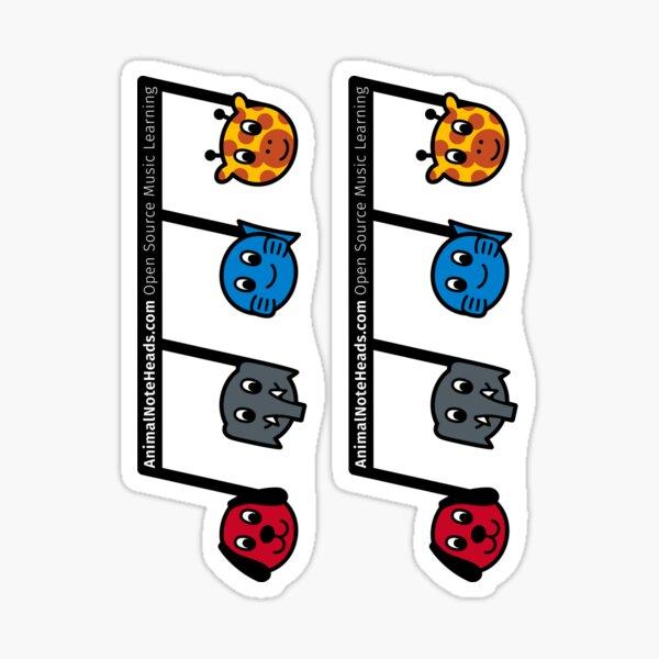 AnimalNoteHeads PR Sticker Sticker