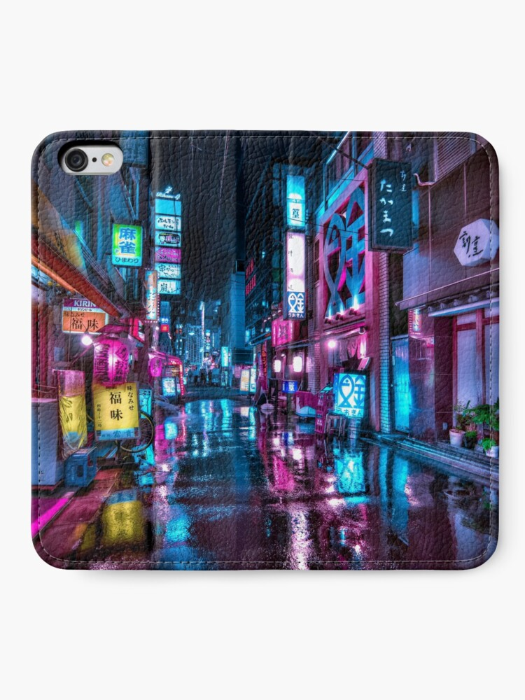 Alternate view of Tokyo at Night - Shimbashi iPhone Wallet