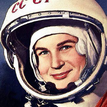 Rubino Valentina Tereshkova First Woman in Space Painting by RubinoCreative