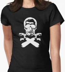 Skull & Portafilters Womens Fitted T-Shirt