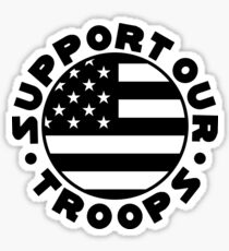 Support Our Troops Flag Sticker