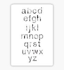 Helvetica Map Letters Sticker