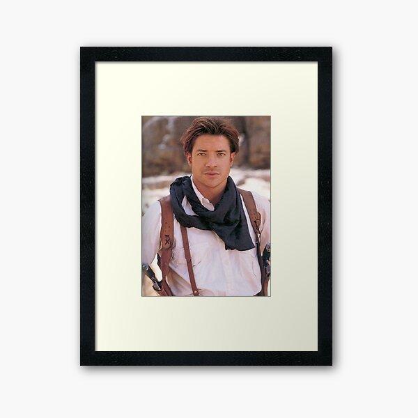 Brendan Fraser Framed Art Print