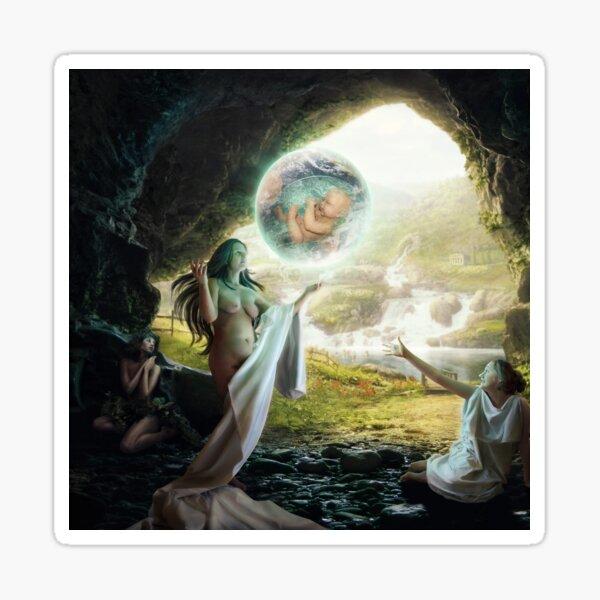 Birth of Zeus - Mythology Art Sticker