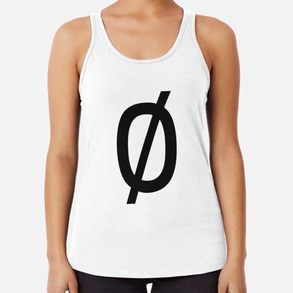 "Empty Set - Unicode Character ""∅"" (U+2205) Racerback Tank Top"
