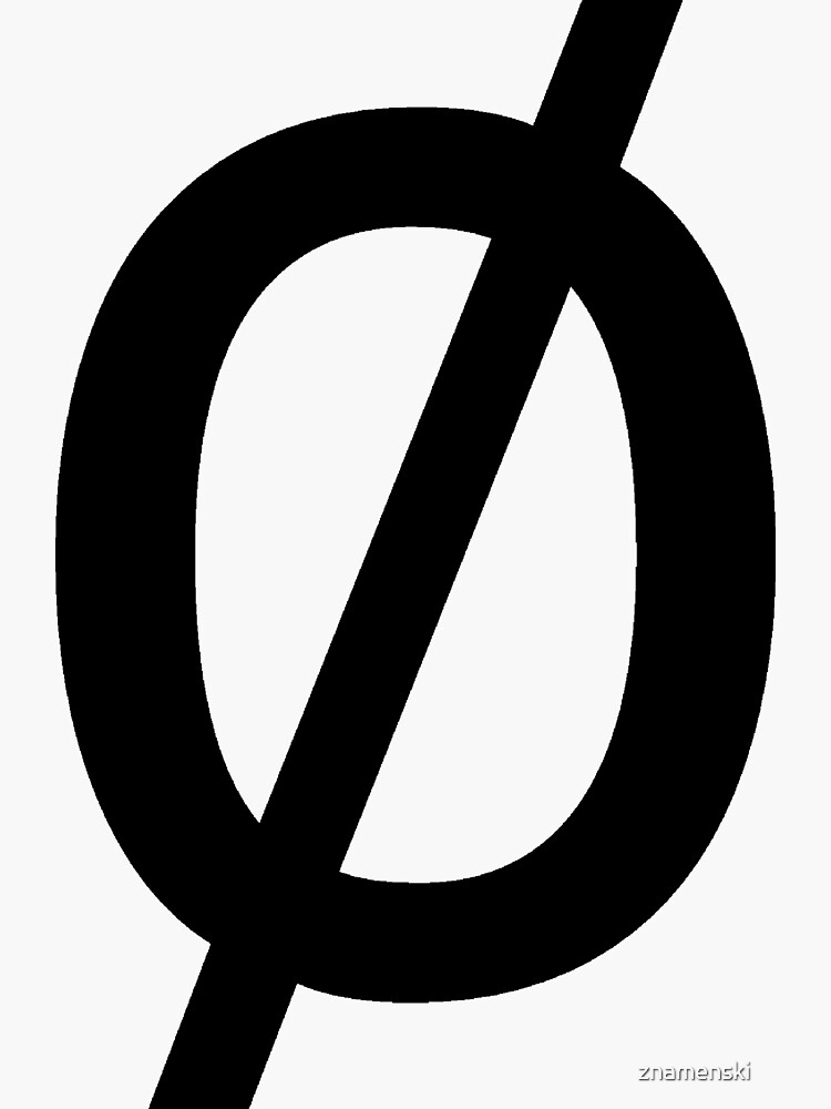 "Empty Set - Unicode Character ""∅"" (U+2205) by znamenski"
