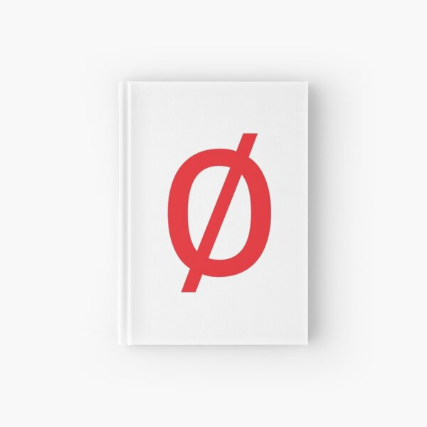 "Empty Set - Unicode Character ""∅"" (U+2205) Red Hardcover Journal"