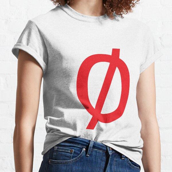 "Math, Empty Set - Unicode Character ""∅"" (U+2205) Red Classic T-Shirt"