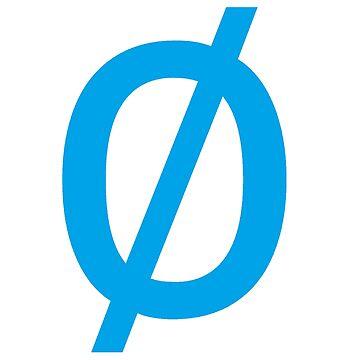 "Empty Set - Unicode Character ""∅"" (U+2205) Blue by znamenski"