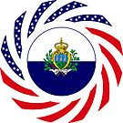 San Marino American Multinational Patriot Flag Series by Carbon-Fibre Media