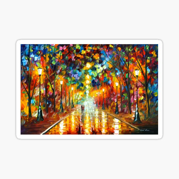 FAREWELL TO ANGER - Leonid Afremov Sticker