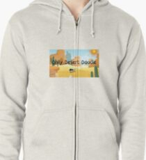 Daily Desert Doodle - The Blog and the Podcast Zipped Hoodie