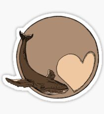 Pluto: Whale and Heart Sticker