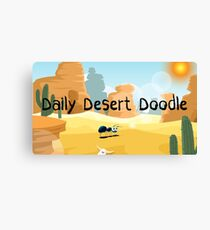 Daily Desert Doodle - The Blog (large) Canvas Print