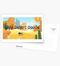 Daily Desert Doodle - The Blog (large) Postcards