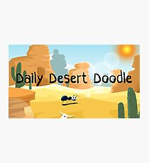 Daily Desert Doodle - The Blog (large) Photographic Print
