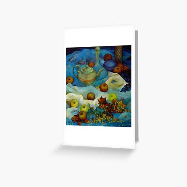 blu still life Greeting Card