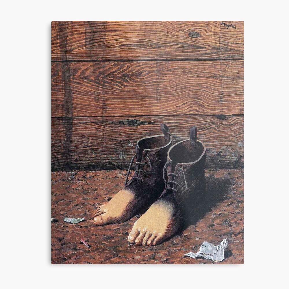 "Magrittes ""Das rote Modell"" Metallbild"