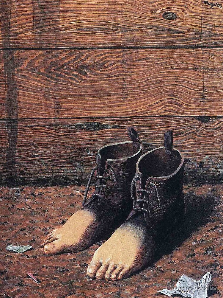 "Magrittes ""Das rote Modell"" von laurens-doodles"