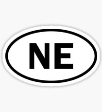 Nebraska - NE - ovaler Aufkleber und mehr Sticker