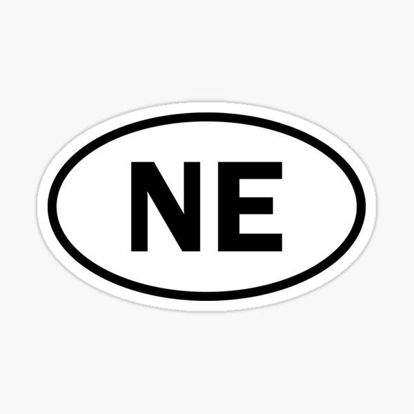 Nebraska - NE - oval sticker and more Sticker