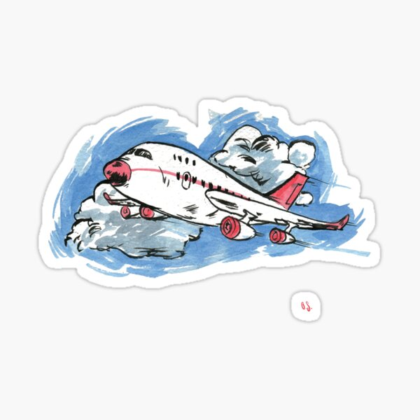 A is for Aeroplane! Sticker