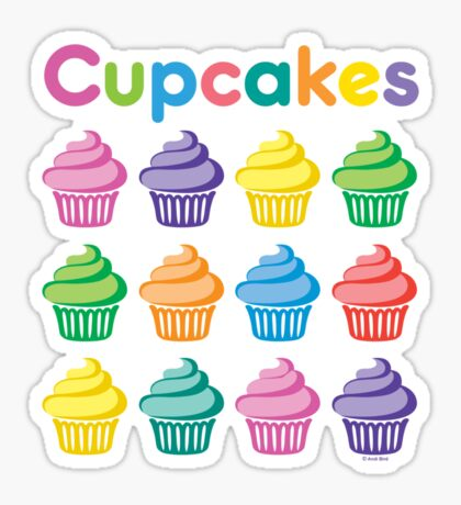Cupcakes Pretty Sticker