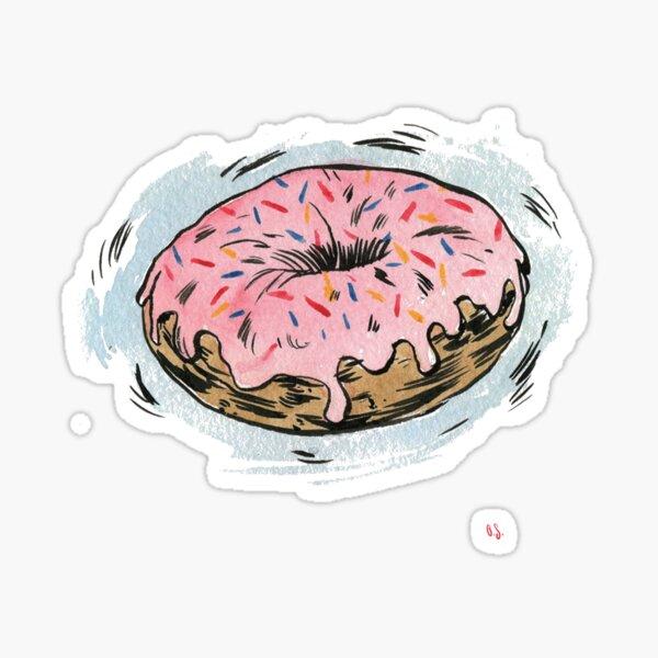 D is for Doughnut! Sticker