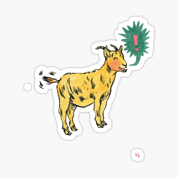 G is for Goat! Sticker