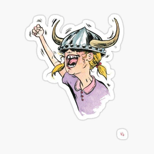V is for Viking! Sticker