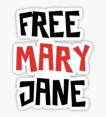 Free Mary Jane Legalize  Sticker