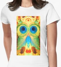 The Owl - Abstract Bird Art by Sharon Cummings T-Shirt
