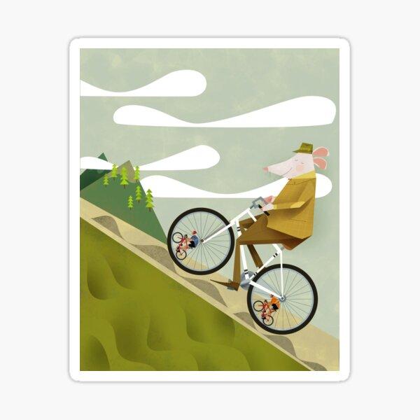 Hamster Cyclist Road Bike Poster Sticker